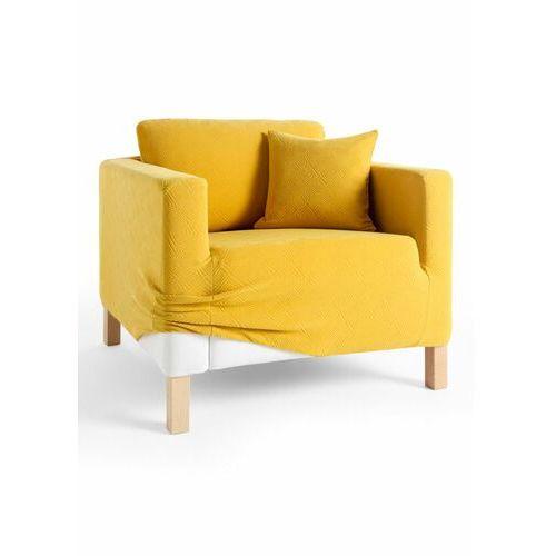 Pokrowiec z wypukłym wzorem żółty marki Bonprix