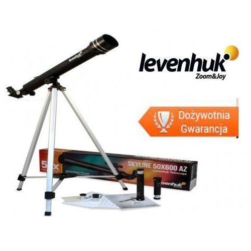Teleskop Levenhuk Skyline 50x600 AZ Refraktor. Średnica soczewki obiektywowej: 50 mm. Ogniskowa: 600 mm.. Najniższe ceny, najlepsze promocje w sklepach, opinie.