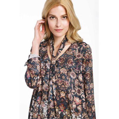 Elegancka bluzka w kwiaty z włoskiej wiskozy - marki Potis & verso