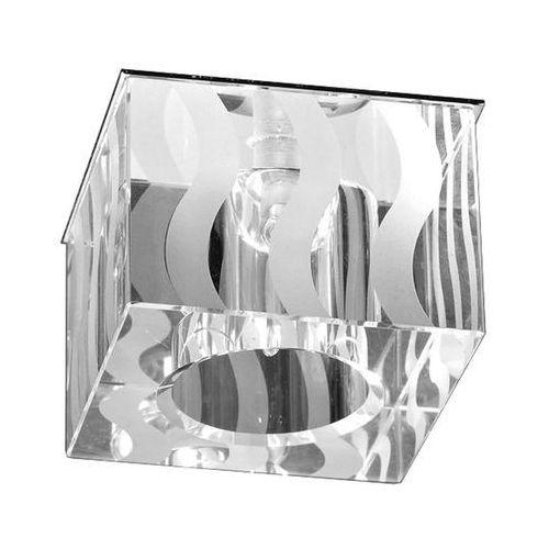 Britop lighting Lampa sufitowa britop brillant kostka 5130101 oczko szklane do wudbowania ozdobione w falujące pasy