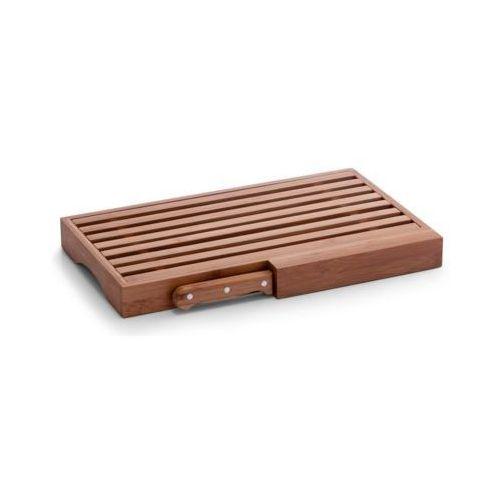 Zeller Deska do krojenia (29.5 x 23.5 cm) drewniany + nóż (4003368252254)