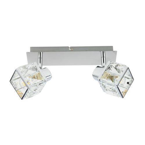 apollo kr 388-2l listwa 2x40w e14. chrom, kryształowy, szklany klosz marki Krislamp