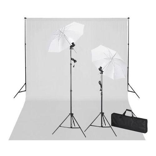 zestaw do studio: białe tło 600x300 i światła marki Vidaxl