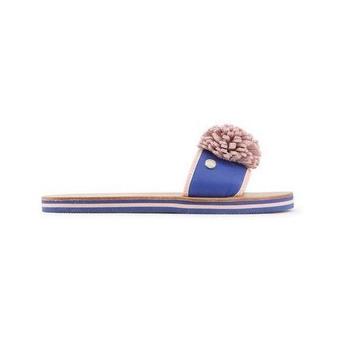 Klapki Damskie Love Moschino JA28012G15ID Niebieskie, kolor niebieski