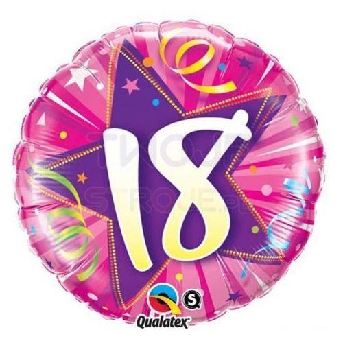 Twojestroje.pl Balon 18 urodzny róż 18'' 46cm (0071444240000)