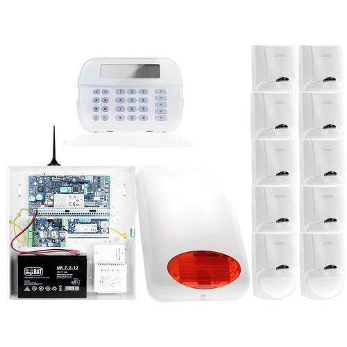 Dsc Za12549 zestaw alarmowy 10x czujnik ruchu manipulator lcd powiadomienie gsm