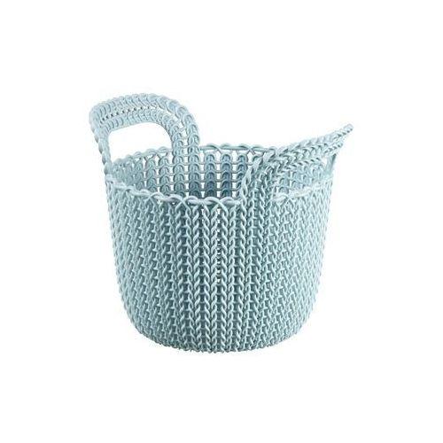 Curver Kosz do przechowywania okrągły niebieski knit 3l