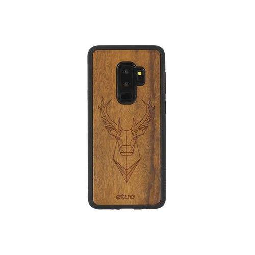 Samsung galaxy s9 plus - etui na telefon wood case - jeleń - imbuia marki Etuo wood case