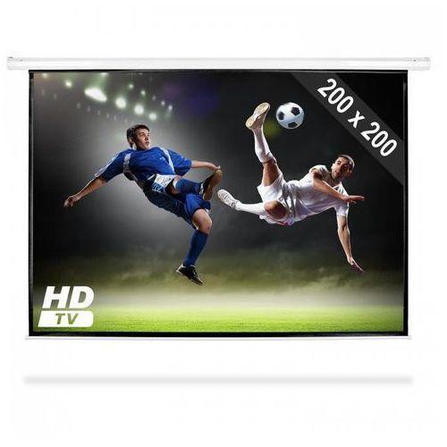 elektryczny ekran projekcyjny rozwijany 200x200cm kino domowe hdtv 1:1 marki Frontstage