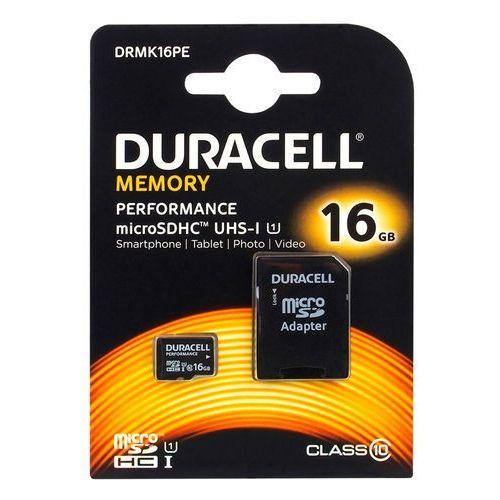 karta pamięci microSDHC Duracell 16GB class 10 UHS-I - produkt z kategorii- Karty pamięci