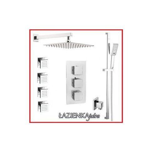Podtynkowy zestaw prysznicowy z baterią termostatyczną Omnires Fresh FR7138/6, chrom ZEST23