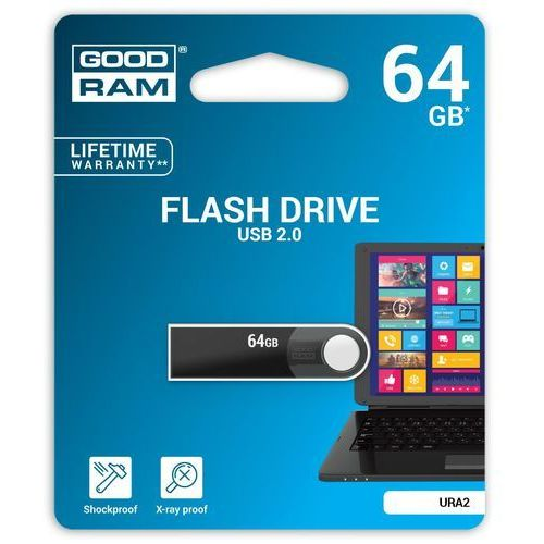 Goodram Pendrive 64gb ura2 black usb 2.0
