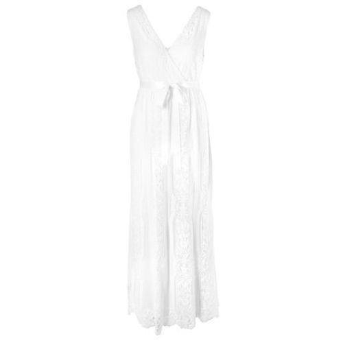 Bonprix Sukienka ciążowa wieczorowa/ślubna biel wełny