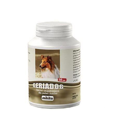 geriadog 50 tabletek - preparat dla starszych lub osłabionych psów i kotów marki Mikita