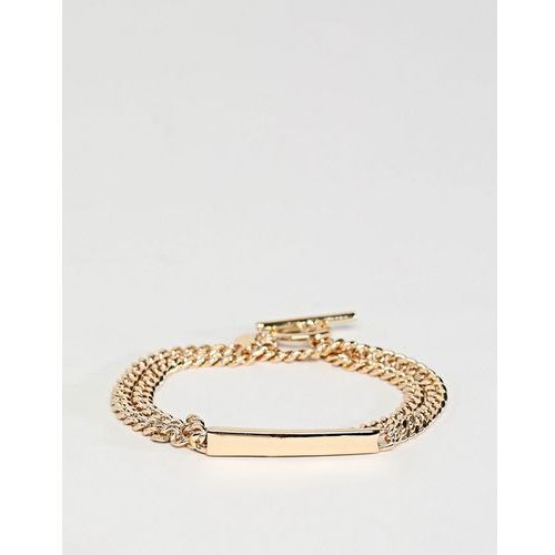 Chained & Able wrap id bracelet in gold - Gold