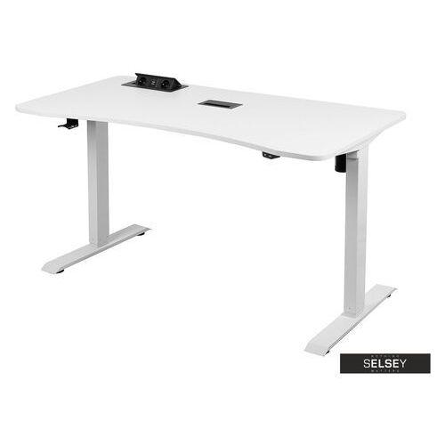 Selsey biurko gamingowe taraq białe (5900000074603)