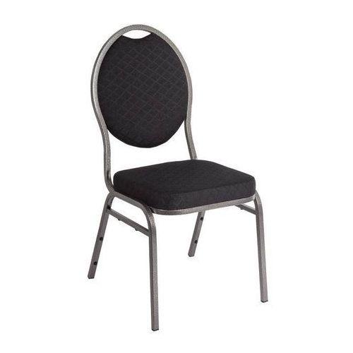 Bolero Krzesła sztaplowane czarne | 4 szt. | 43x53x(h)90cm