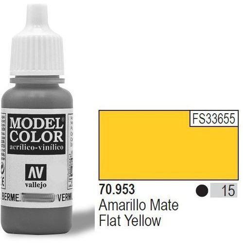 Vallejo farba nr15 flat yellow matt 17mlmatt (8429551709538)
