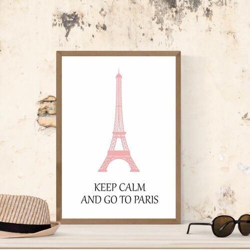 Plakat keep calm and go to paris 155
