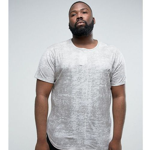 plus t-shirt with texture and logo - grey marki Religion