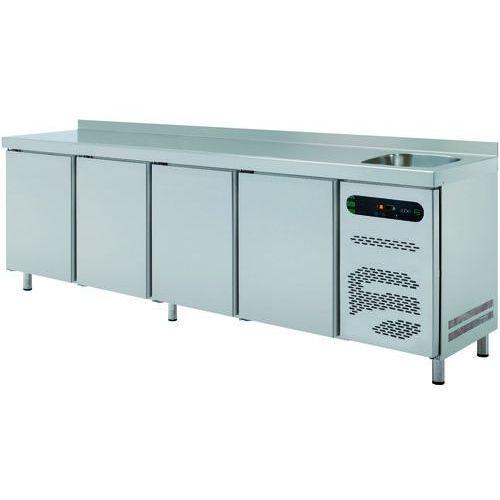 Stół chłodniczy 4-drzwiowy ze zlewem, 615 l, 2242x700x850 mm | , etp-7-225-40-ds marki Asber