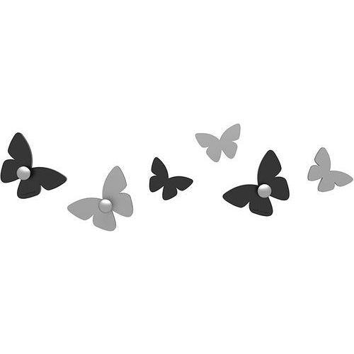 Calleadesign Wieszaczki ścienne millions of butterflies czarne (50-13-2-5)