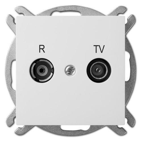 Elektro Plast Sentia Gniazdo R-TV 10dB Biały - 1454-10 z kategorii Gniazdka