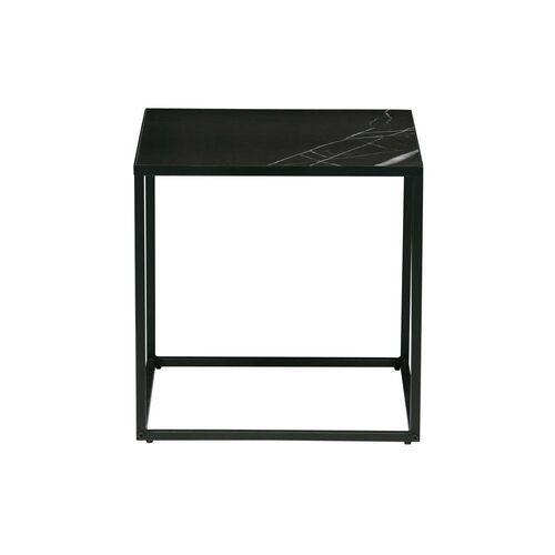 Woood stolik kawowy z blatem marmurkowym czarny 45x45, rozm m 373824-z