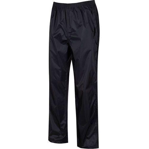 Regatta pack it spodnie długie mężczyźni czarny l 2018 spodnie przeciwdeszczowe