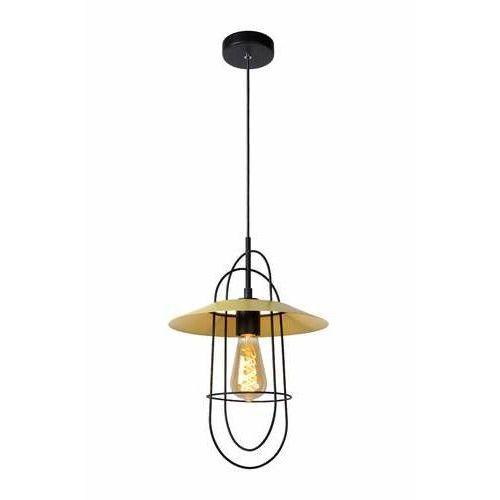 Lucide Masson 74309/01/34 lampa wisząca zwis 1x40W E27 żółty, 74309/01/34