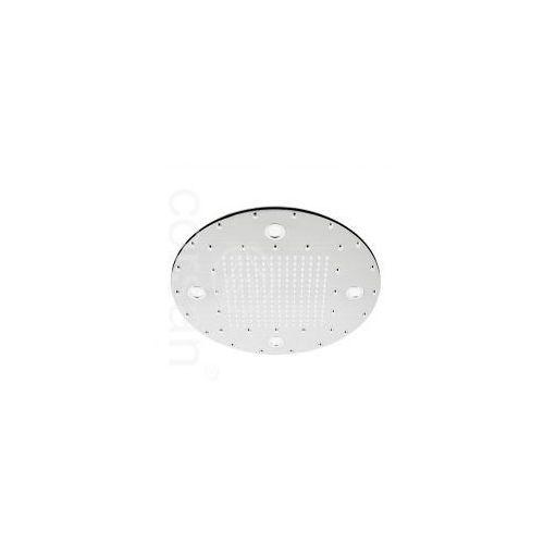 CORSAN Deszczownica owalna 40cm LED, mosiądz, chrom CMD040LED