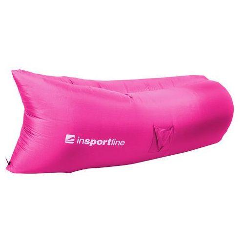 Insportline Dmuchany leżak lazy bag na lato sofair materac fotel, szary