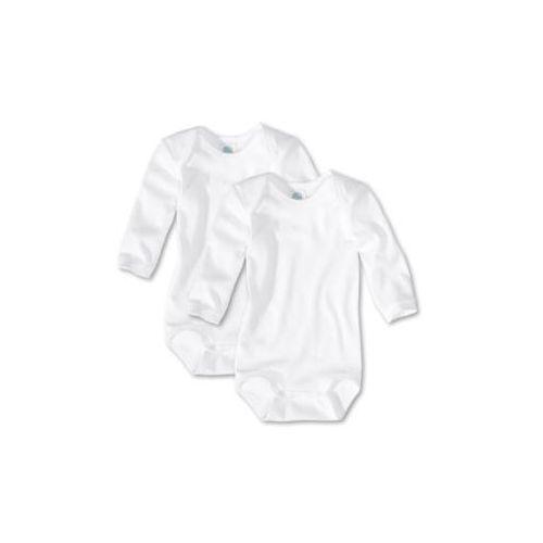SANETTA Baby Body z długim rękawem kolor biały 2 sztuki (4050399666406)