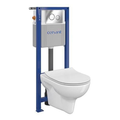 Zestaw podtynkowy WC Cersanit Neso bezkołnierzowy z deską wolnoopadającą (5902115735585)