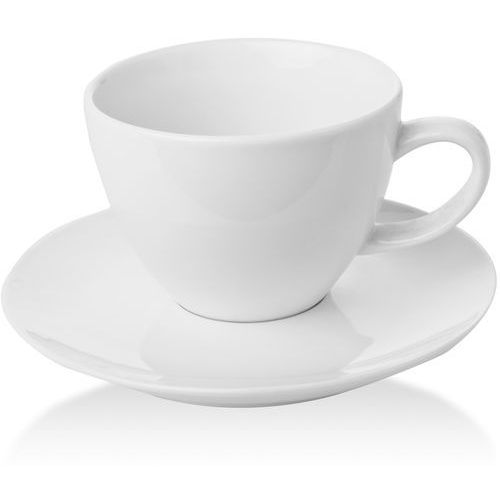 Filiżanka elegancka ze spodkiem porcelanowa bianco marki Fine dine