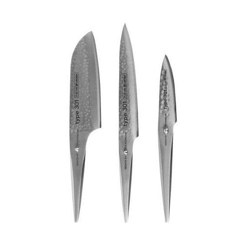Nóż Santoku, nóż do plastrowania i do obierania Type 301 HM w zestawie (4260089860483)