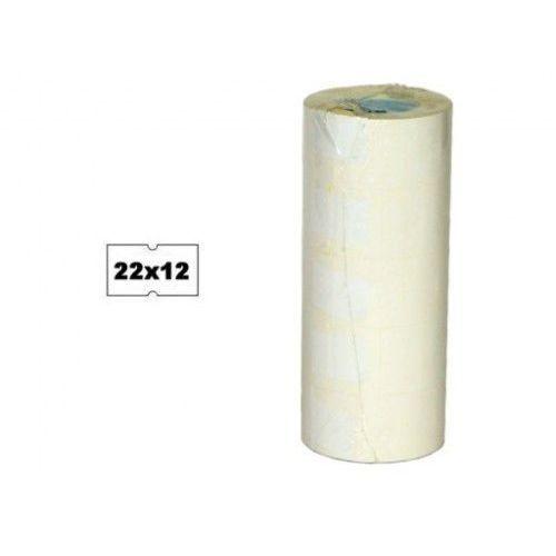Metki białe 22x12mm do metkownicy METO 2026