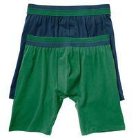 Długie bokserki (2 pary) ciemnoniebieski + zielony, Bonprix, M-XXXXL