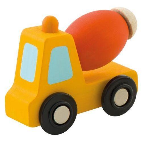 Pomarańczowa betoniarka, drewniane autko, 85701-Sevi, zabawki dla chłopców