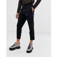 Mennace cropped trousers with zip detail in black - Black, kolor czarny