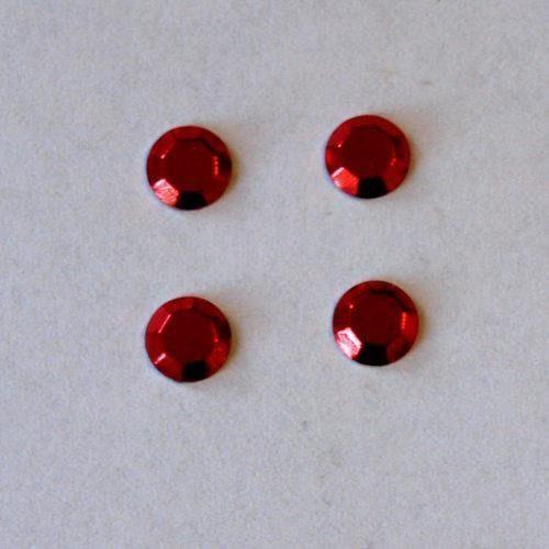 Pentart Dżety hot fix okrągłe 5mm/16szt. - czerwony - cze