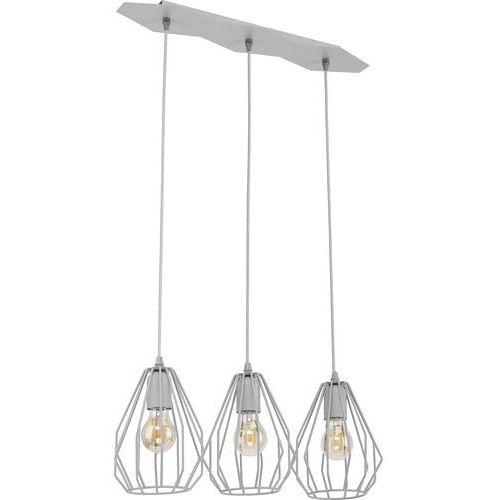 Tklighting Lampa wisząca druciana zwis loft tk lighting brylant 3x60w e27 szara 2229