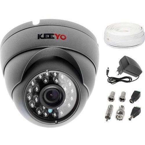 Zestaw do monitoringu kamera lv-al25hd zasilacz przewód akcesoria marki Keeyo
