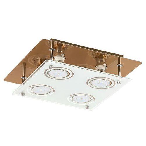 Plafon Rabalux Naomi 2252 lampa sufitowa 4x15W GU10 LED brąz (5998250322520)