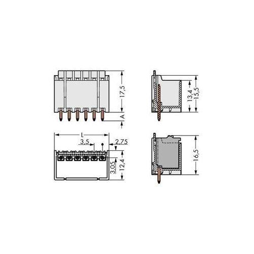Wago Obudowa męska na pcb  2091-1412, ilośc pinów 12, raster: 3.50 mm, 100 szt.