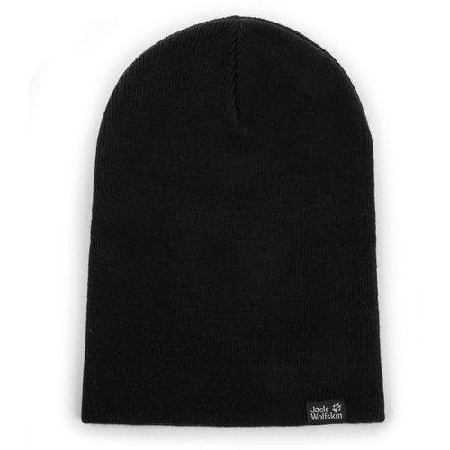 Jack wolfskin Czapka - rib hat 1903891 black