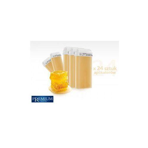 Premium textile Zestaw gabinetowy woski do depilacji miele z szeroką rolką 80ml x 24 szt