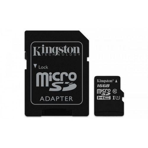 Karta pamięci Kingston microSDHC Canvas Select 16GB UHS-I Class 10 + adapter (0740617274646)