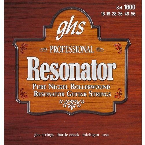 GHS Professional - Resonator String String Set, Nickel, Semi Flat,.016-.056