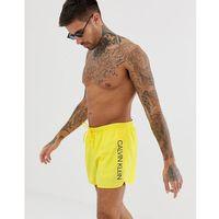 Calvin Klein logo runner swim shorts in yellow - Yellow, kolor żółty